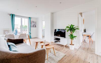 Rénovation d'un appartement en colocation sur Rouen : Sols, murs et cuisine.